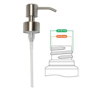 Seifenpumpe Edelstahl für 28 mm Gewinde Flasche Seifenspender,Gebürstetes Finish
