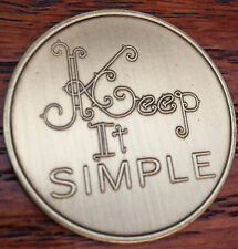 Keep It Simple Serenity Prayer Bronze Recovery Medallion Coin AA NA Chip