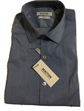 NWT Kenneth Cole Reaction Men Slim-Fit Blue Dress Shirt L 16-16.5 32/33