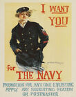 Howard Chandler Christy I Want You For The Navy Canvas Print 16 x 20     # 6384