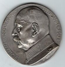 1918 German Medal to Honor Dr. General Otto von Schjerning, by Manzel
