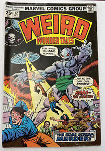 "1975 Marvel Comics Weird Wonder Tales #12.""The Stars Scream Murder"""