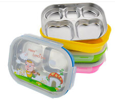 Stainless Steel Kids Children Lunch Container Cartoon Box Durable Snack Packing