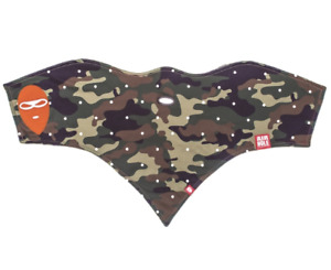 Airhole Snowboard FACEMASK 10K SOFTSHELL 2-Layer Face Mask Protection M/L Camo