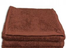 SERVIETTE  DE TOILETTE  50 x 100 cm 100% coton - LOT DE 2 - MARRON BRIQUE