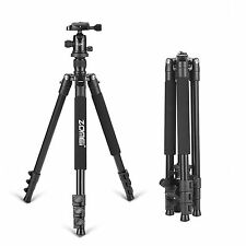 Camera Tripod Aluminium Tripod For Canon Nikon Sony Digital Camera Q555 BLACK