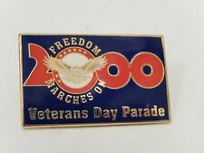 Veterans Day Parade 2000 Freedom Marches on pin USA military navy army