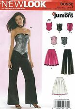 New Look 6480 Juniors' Corsets, Skirt and Pants 3/4 to 13/14   Sewing Pattern