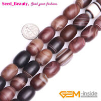 Frosted/Smooth Column Agate Gemstone Loose Beads for Jewelry Making Wholesale