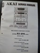 ORIGINALI service manual AKAI MINI STEREO COMPONENT SYSTEM rx-890