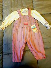 Oshkosh Bgosh Vintage Pink Overall Jumper set, NWT, 6-9...