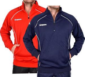 Kappa Herren Trainingsjacke Sweatshirt Fußball Sport Pullover Jacke Men rot blau