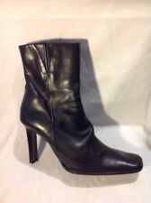 Bronx Black Ankle Leather Boots Size 38