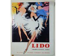 Louis-Guerin - Fraday - Plaquette du LIDO - spectacle Au plaisir - décembre 1959