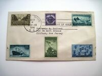 Six 1946 Military Stamps on One Envelope -Army, Navy, Coast Guard & Mer.Marines*