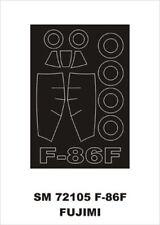 Montex Mini Mask 1:72 F-86 F for Fujimi Kit Spraying Stencil #SM72105