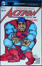 SUPERMAN-ORIGINAL BLANK COVER ART-FRANK MILLER STYLE-DARK KNIGHT-MAX GOTTFRIED