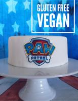 paw patrol edible cake topper decoration logo cake sticker
