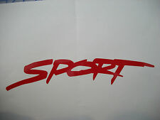 """SPORT"" Script (pair) Vinyl Stickers Decals Hood Fender Bumper"