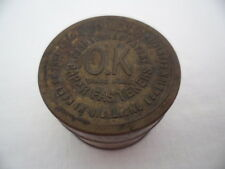 VINTAGE OLD ANTIQUE TIN OK  PAPER FASTENERS BUSINESS OFFICE SUPPLIES ITEM