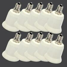 High Quanlity 10PCS E12 to E27 Candelabra Bulb Lamp Socket Adapter Holder White