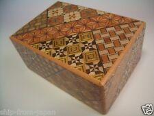 Rompecabezas De Madera Japonés Caja Himitsu Bako medio 12 paso secreto Truco Japón himitu