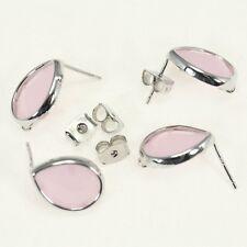 Earring Findings Bezel Framed Glass Earring Hook Stud Jewelry supplies EF-010