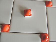 Mosaic SpheresTile Pieces-Tile Inserst- Kitchen Backsplash Tiles-Orange Tiles