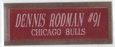 Dennis Rodman Bulls Name Plate For Autographed Ball Shoe Jersey Picture