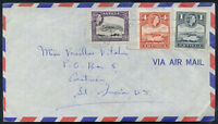 BRITISH ANTIGUA TO ST LUCIA Old Air Mail Cover VERY NICE!