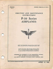 P-39 Series Erection and Maintenance Inst's  Flight Manual .....CD Version