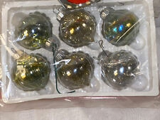 Lot of Vintage StyleD Christmas Clear w/Garland Inside Glass Balls Ornaments