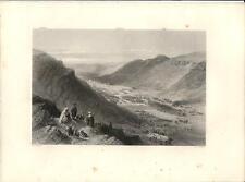 Stampa antica SICHEM NABLUS Cisgiordania Palestina Palestine 1857 Antique print