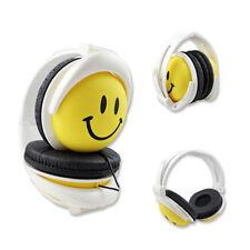 Cartoon Smile Face Children Kids Foldable Wired Headband Headphones Earphone