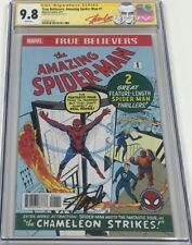 Marvel True Believers Amazing Spiderman #1 Signed Stan Lee CGC 9.8 SS Red Label