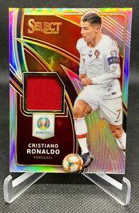 Cristiano Ronaldo 2020 Select UEFA Euro Silver Prizm Patch