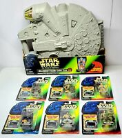 STAR WARS Power Of The Force MILLENNIUM FALCON Figure Carrying Case + 6 Figures