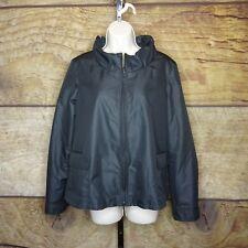 Armani Collezioni Womens 10 Polyester Rain Jacket Coat Belted NWOT Lightweight