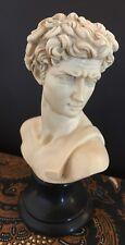 Sculpture Michelangelo David Realistic Vintage Ivory Look Replica Head