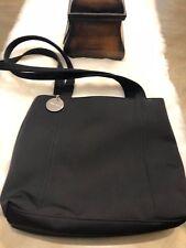 Nine West Black Tote Neoprene Like Material Bag