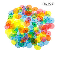 50Pcs Plastic Golf Ball Mark Position Markers Assorted Color Golf Ball Marker US