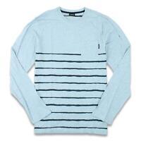 Nixon Mens Shore L/S Shirt Blue M New