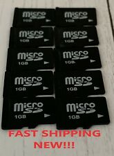 NEW! 10x 1GB MICRO SD CARDs Memory Flash Storage Card