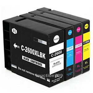 5x Generic PGI 2600XL Pigment Inks for Canon IB4060 MB5060 MB5360 MB5460 Printer