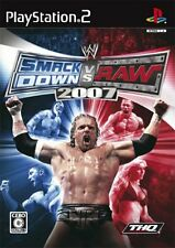 Used PS2 WWE SmackDown! vs. RAW 2007   Japan Import (Free Shipping)