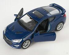 Blitz envío hyundai Genesis Coupe II dun. azul Welly modelo auto 1:34 nuevo embalaje original