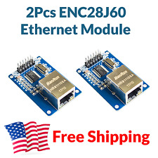 2pcs Enc28J60 Ethernet Module Rj45 Board Shield for Arduino Stm32 Esp32 Us Ship