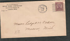 1932 cover Motor Wheel Corporation Lansing MI to Mason Lodge #70