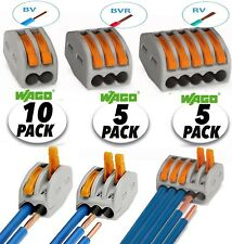 (20pcs) Wago Lever-Nuts 2,3,5 Conductor Terminal Block, Compact Wire Connector