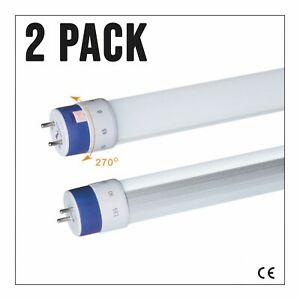 2 PACK LED T8 Fluorescent Tube Replacement 2ft 4ft 5ft G13 Cool White 4000k 600m
